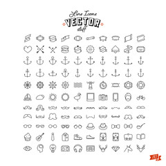 Huge line icon set
