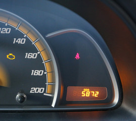 close view of car dashboard