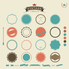 Elements for creating retro vintage logo, label, sign