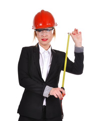 woman holding tape measure