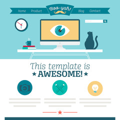 website template - flat design