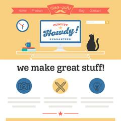 flat website template