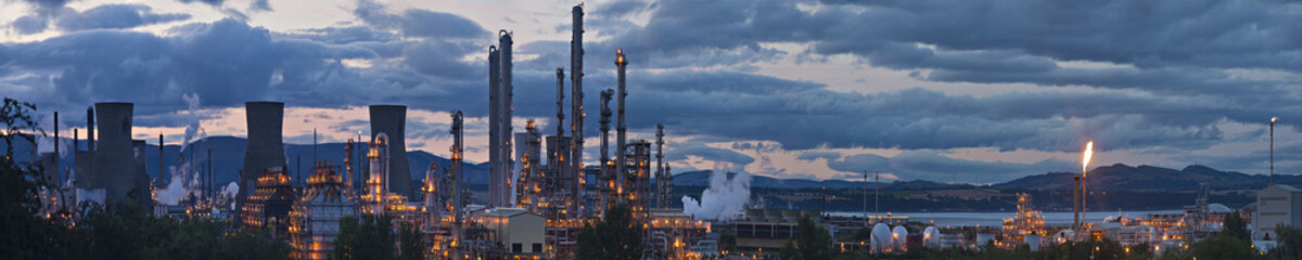 Grangemouth oil refinery complex