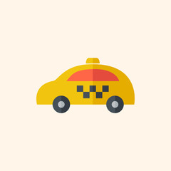 Taxi. Travel Flat Icon
