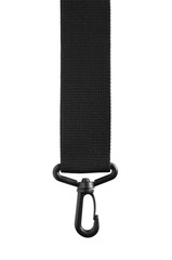 Black belt rope strap lanyard, hanging plastic clasp snap latch