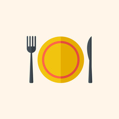 Dinner. Travel Flat Icon