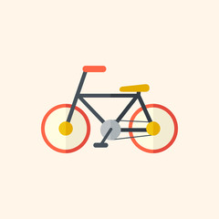 Bicycle. Travel Flat Icon