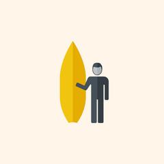 Surfing. Travel Flat Icon