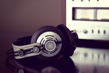 Stereo Audio Headphones close-up