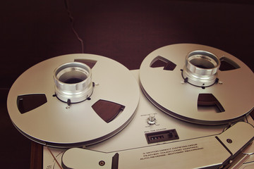 Open Metal Reels With Tape For Professional Sound Recording with
