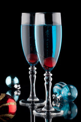Blue Champagne Cocktail