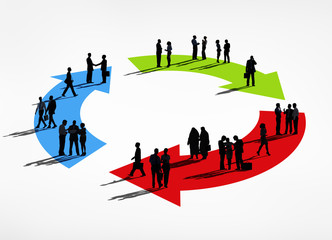 Business People with Circle Concepts