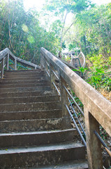 The stairs to the top of PHRA THAT PHUPEK. 490 step to top mount