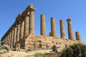 historical Sicilian temple at Agrigento