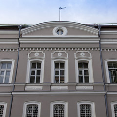 Moscow, Russia. Typical details of facades of old Moscow houses