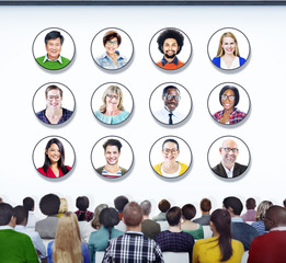 Diverse People in a Conference About Ethnicities