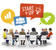 Group of People in Meeting with Startup Concepts