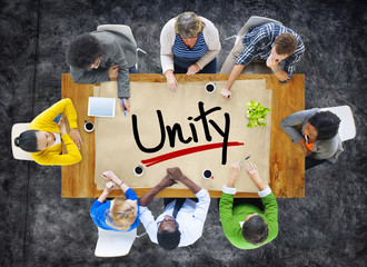 People in a Meeting and Single Word Unity