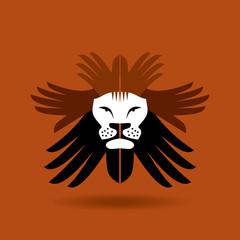 save wild concept. lion