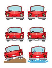 赤い自動車
