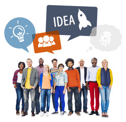 Diverse People and Idea Concepts