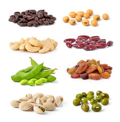 Cashew Nuts, green beans, soy beans, coffee beans,Pistachios,kid