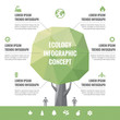Infographic business concept. Abstract tree illustration.