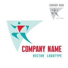 Man Figure - Abstract Vector Logo Template.