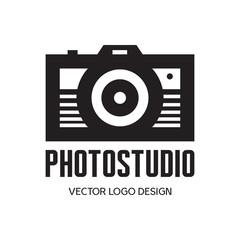 Photo studio - vector logo. Photo camera vector illustration.