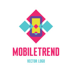 Abstract Mobile Phone Illustration - Vector Logo Sign Template.