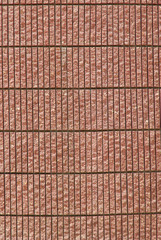 Red sand stone wall