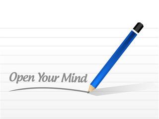 open your mind message illustration design