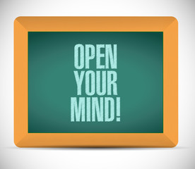 open your mind message on board illustration