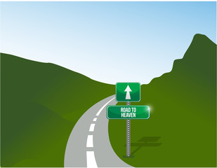 road to heaven illustration design