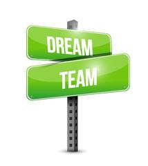dream team street sign illustration design