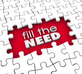 Fill the Need Customer Demands Product Service Marketing