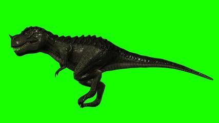 Tyrannosaurus Rex Dinosaur walks - Loopable green screen