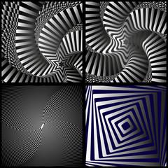 зрительная иллюзия на черном фоне