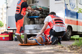 Paramedics during their work