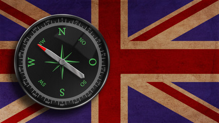 Kompass Britische Flagge
