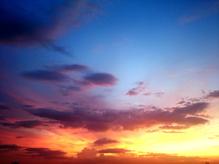 photo sky sunset blue gold background