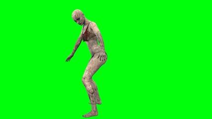 walking dead zombie girl attacks greenscreen
