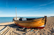 Wooden Dinghy on the Beach
