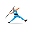 Постер, плакат: Javelin Thrower vector sign