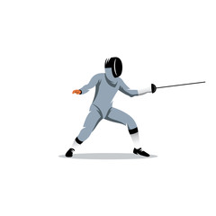 Foil fencer vector sign