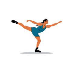 Figure skating vector sign