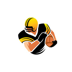 American football vector sign