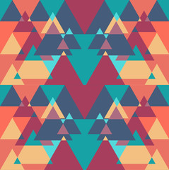 Seamless geometric triangle color  pattern background