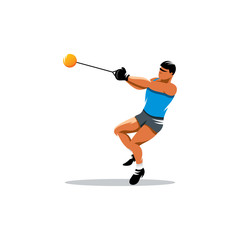 Hammer throw vector sign