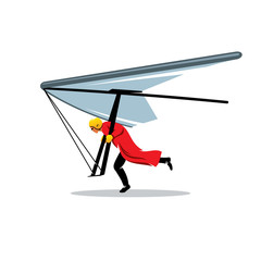 Hang gliding vector sign